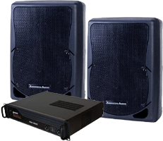 DJ System amplifier and speakers 12 inch