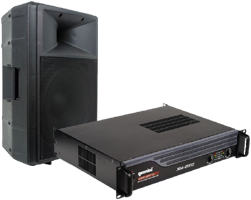 DJ Systems amplifier and speakers 15 inch