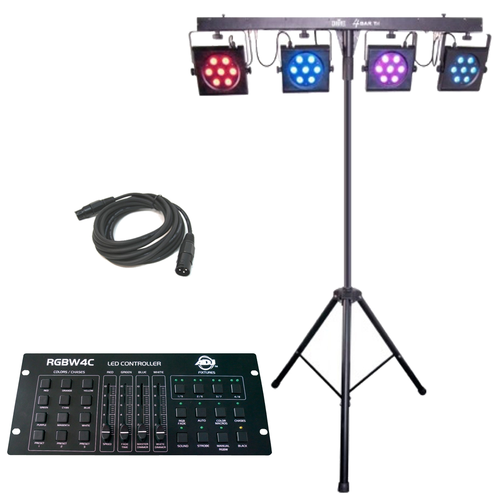 4BARTRI Portable LED Stage Wash Chauvet Light System with