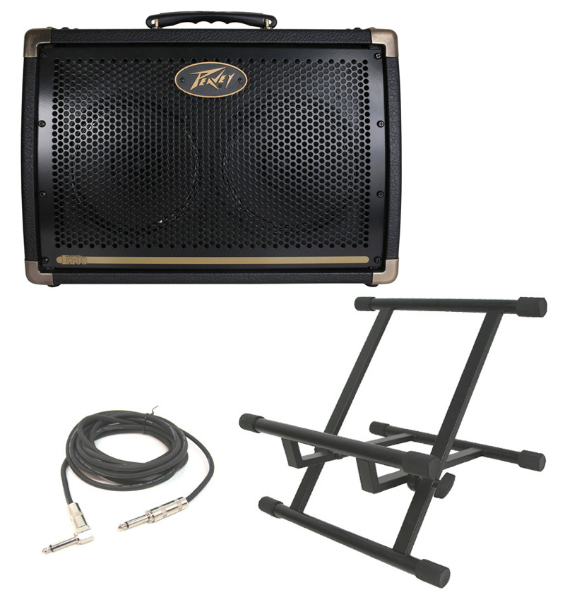 acoustic guitar peavey ecoustic e208 combo 30 watt amp 2 8 speakers with stand 1 4 jack. Black Bedroom Furniture Sets. Home Design Ideas