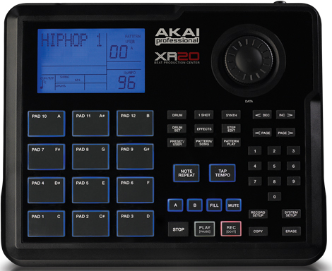 akai xr20 beat production station drum machine with over 7000 sounds produced by chronic music. Black Bedroom Furniture Sets. Home Design Ideas