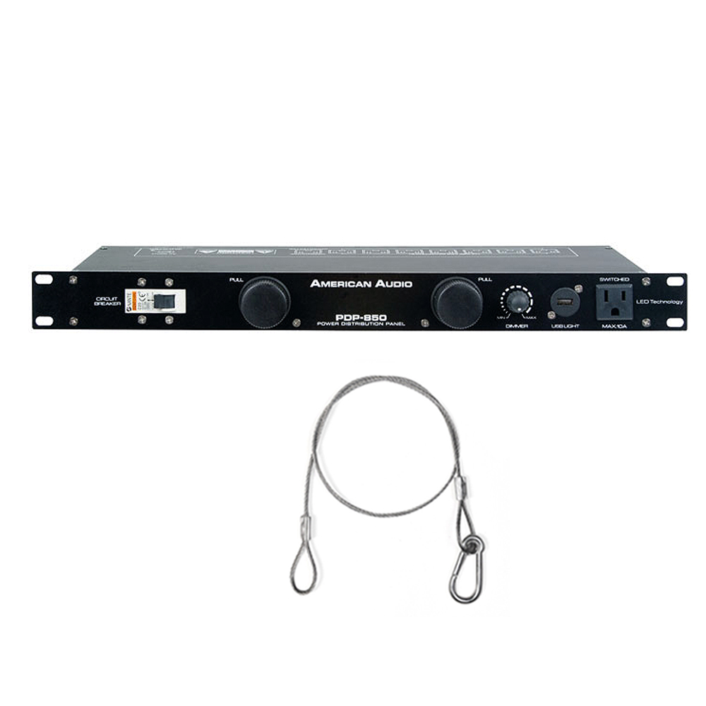 American Audio PDP-850 19-Inch Power Distribution Panel with Safety ...