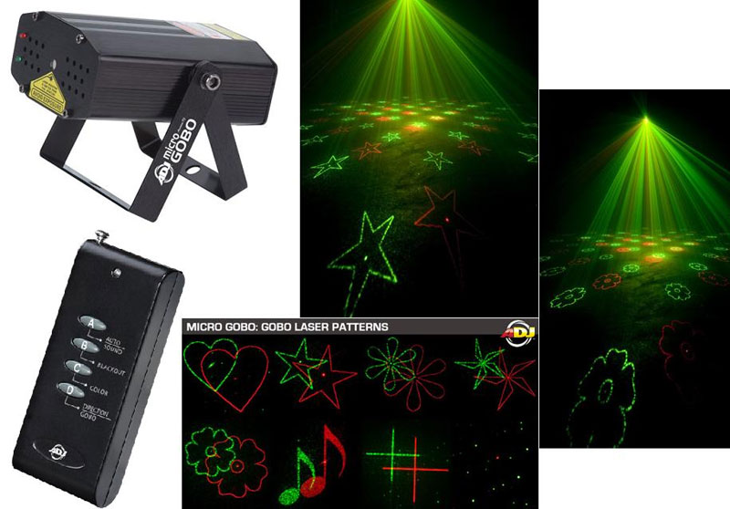 American Dj Micro Gobo Lighting Mini Laser Effect Green