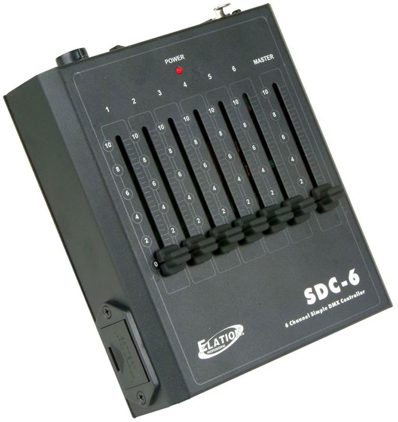 American DJ SDC-6 DMX-512 6-Channel Dimmer Controller with Fader