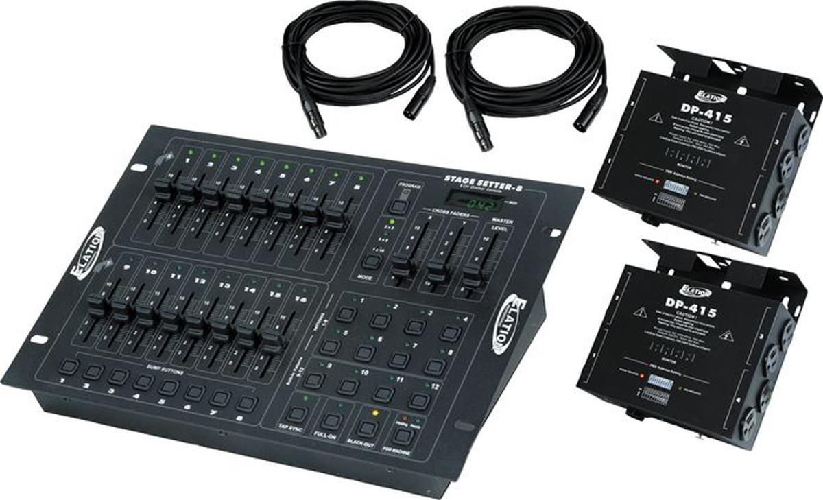 American DJ STAGE PAK 1 Complete DMX 8-Channel Controller and Dimmer