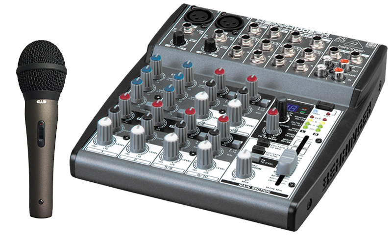 behringer 1002fx pro audio dj xenyx 10 channel stereo effects mixer cad audio cad22a dynamic. Black Bedroom Furniture Sets. Home Design Ideas