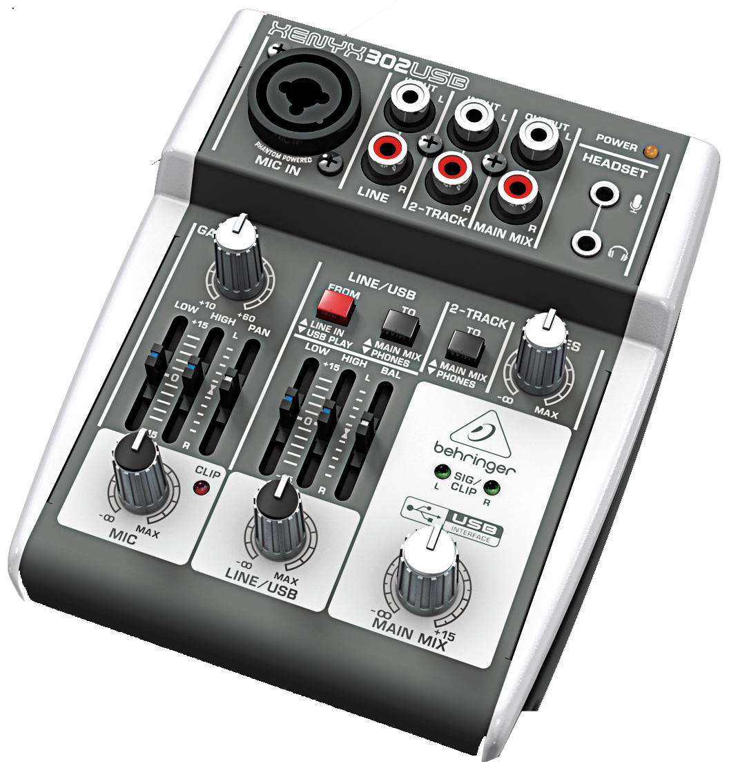 behringer 302usb premium 5 input mixer with xenyx mic preamp and usb audio interface 302usb. Black Bedroom Furniture Sets. Home Design Ideas
