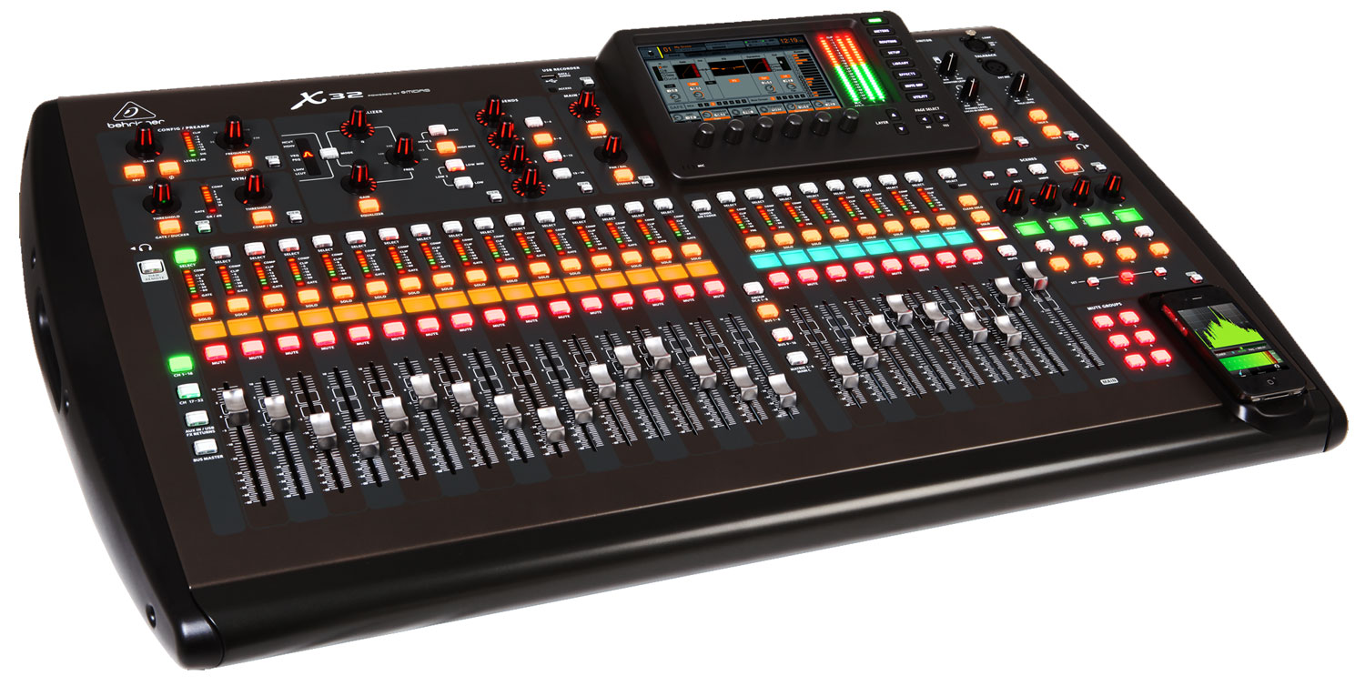 behringer x32 32 channel 16 bus digital total recall live recording mixing console x32. Black Bedroom Furniture Sets. Home Design Ideas
