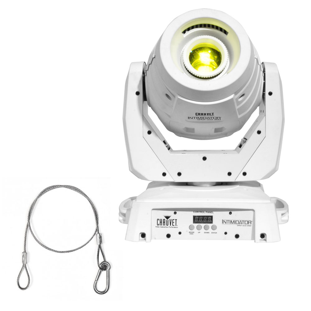 chauvet dj intimidator spot led white housing 350 moving. Black Bedroom Furniture Sets. Home Design Ideas
