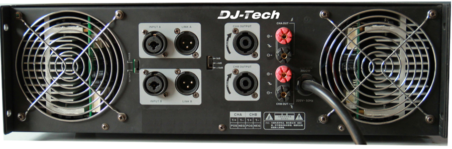 DJ Tech AX 3000 6000 Watts Power Amp with Embedded ACL