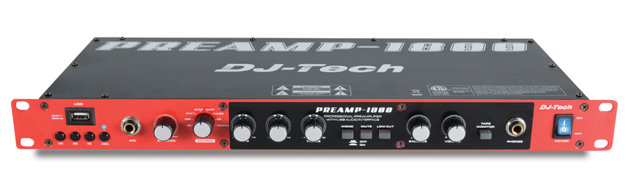 dj tech preamp 1800 8 ch professional preamp with usb audio interface usb direct encoder. Black Bedroom Furniture Sets. Home Design Ideas