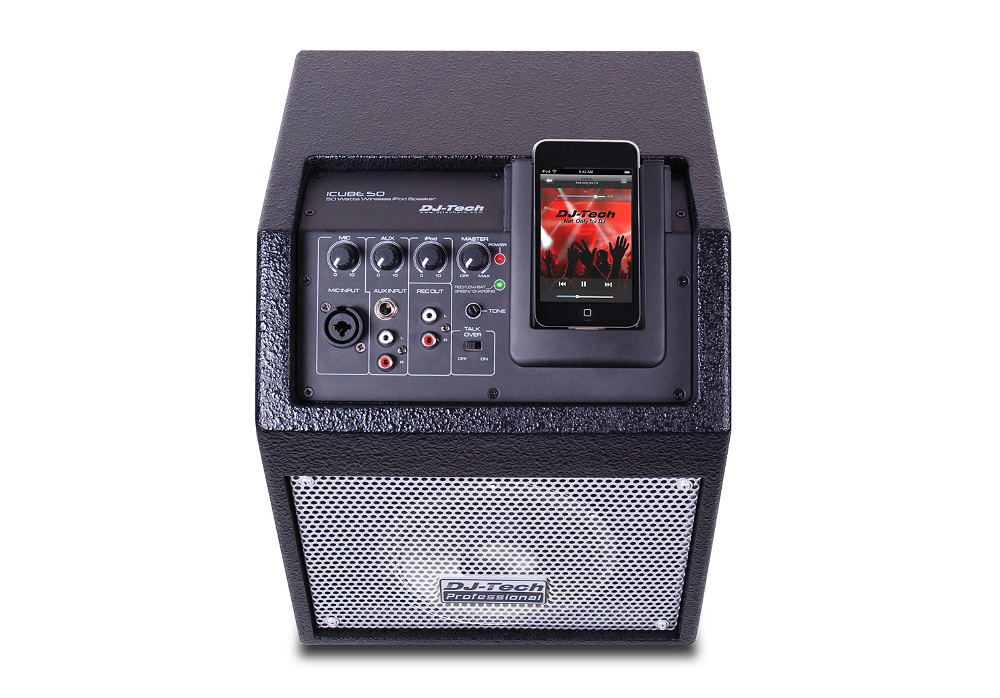 Dj Tech Icube 50 Battery Powered Wireless Pa System With