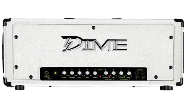 dime d100 wht 2 channel 120 watt white color guitar amp head with boost switch dim12 d100 wht. Black Bedroom Furniture Sets. Home Design Ideas