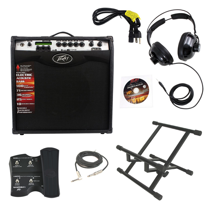 electric guitar peavey vypyr vip3 combo amp 12 100 watt amplifier with sanpera i foot. Black Bedroom Furniture Sets. Home Design Ideas