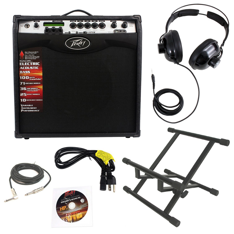electric guitar peavey vypyr vip3 combo amp 12 100 watt amplifier with stand 1 4 cable. Black Bedroom Furniture Sets. Home Design Ideas