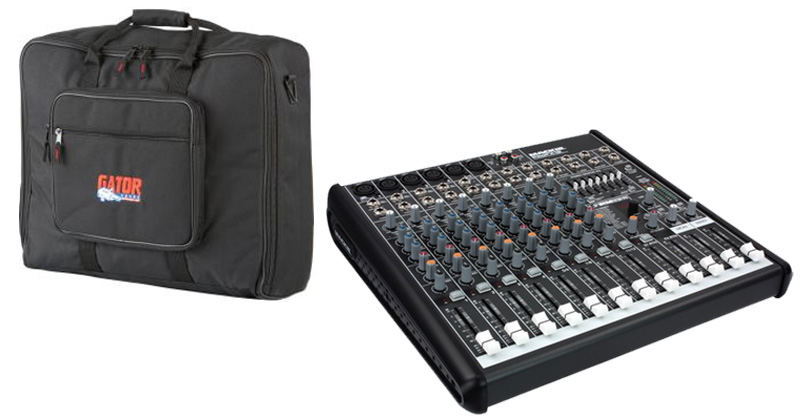 mackie profx12 pro audio dj 12 channel digital live sound mixer effects with 120 gator padded. Black Bedroom Furniture Sets. Home Design Ideas