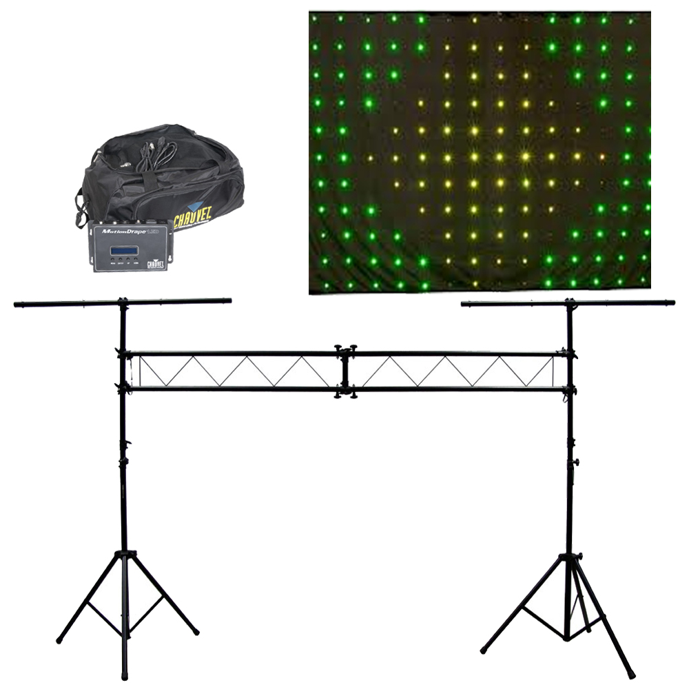 Motion drape led animated color backdrop chauvet light for Truss package cost