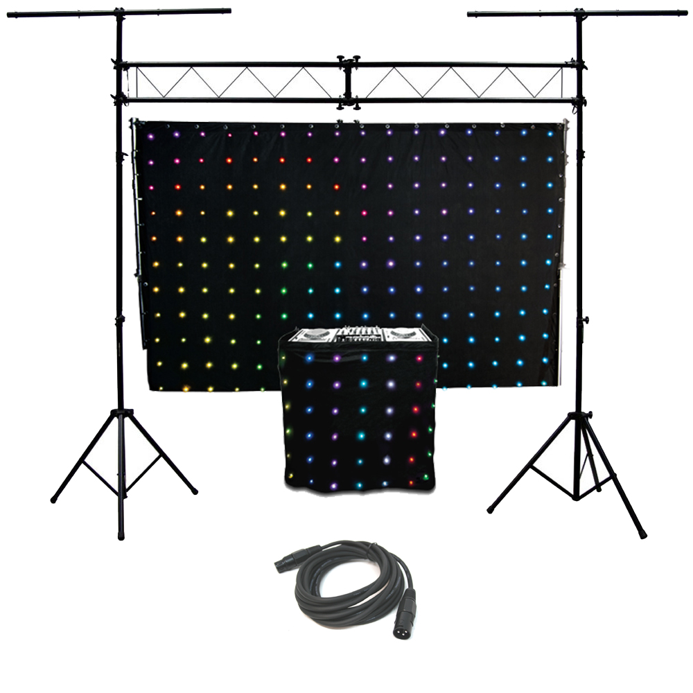 Motionset led motion drape fa ade chauvet light truss for Truss package cost