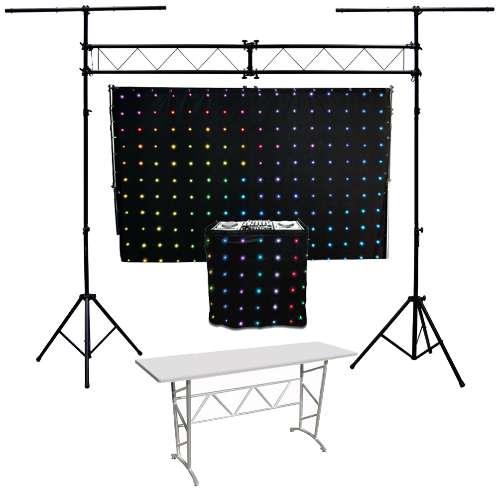 Motionset led motion drape fa ade chauvet light for Truss package cost