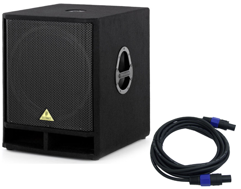 new behringer vp1800s pro audio dj passive 18 1600 watt sub subwoofer with 38 speakon cable. Black Bedroom Furniture Sets. Home Design Ideas