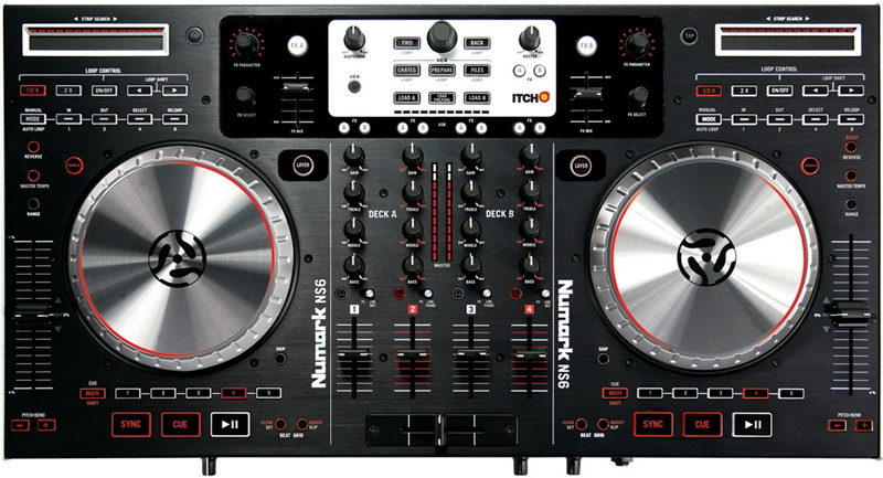 numark ns6 integrated four channel digital dj midi controller mixer ns6. Black Bedroom Furniture Sets. Home Design Ideas