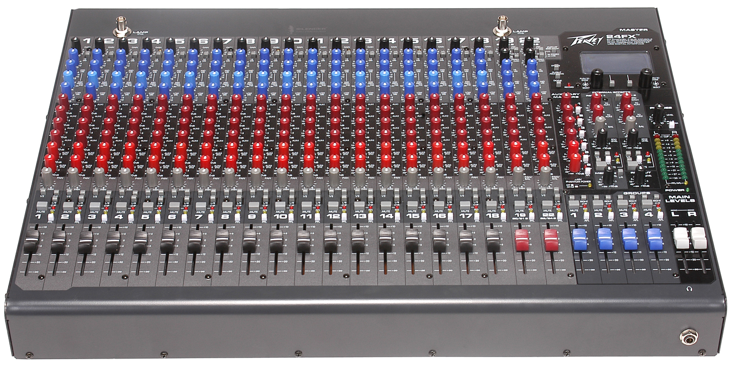 Peavey 24fx 2 Stereo Channel Fx Series Mixer With 20