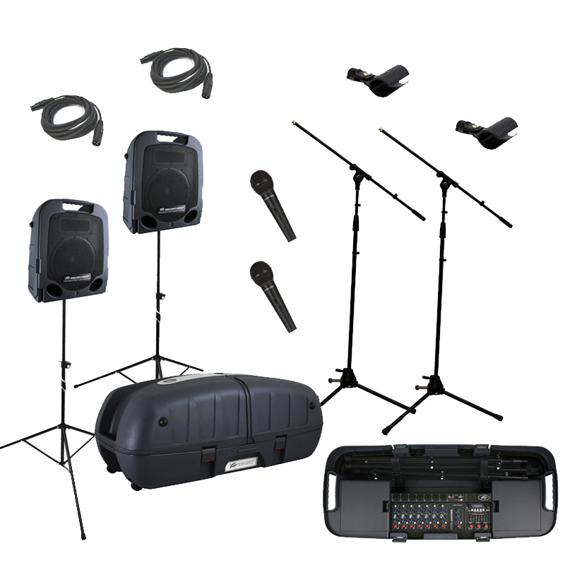 peavey pro audio escort 6000 all in one portable 9 channel pa speaker 600 watt system with 2. Black Bedroom Furniture Sets. Home Design Ideas