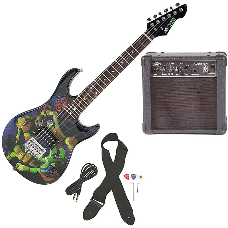 peavey pro audio rockmaster 3 4 student tmnt teenage mutant ninja turtles beginner electric. Black Bedroom Furniture Sets. Home Design Ideas