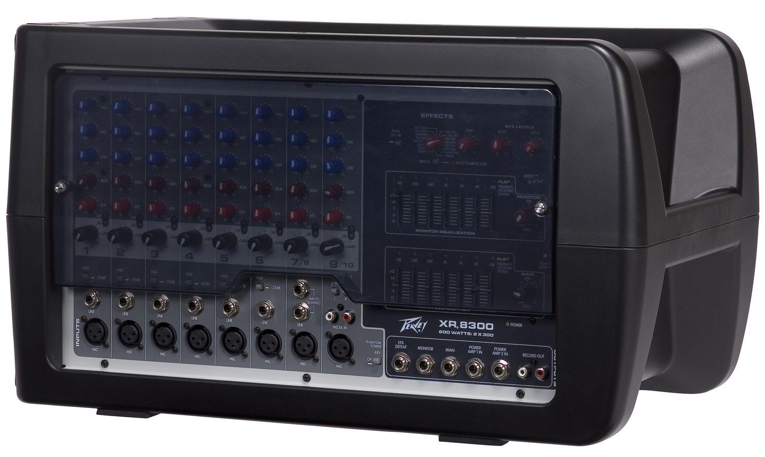 peavey xr 8300 pro audio mixer w low noise microphone preamps rh smartdj com Peavey Portable Powered Mixer Peavey XR8300 Powered Mixer