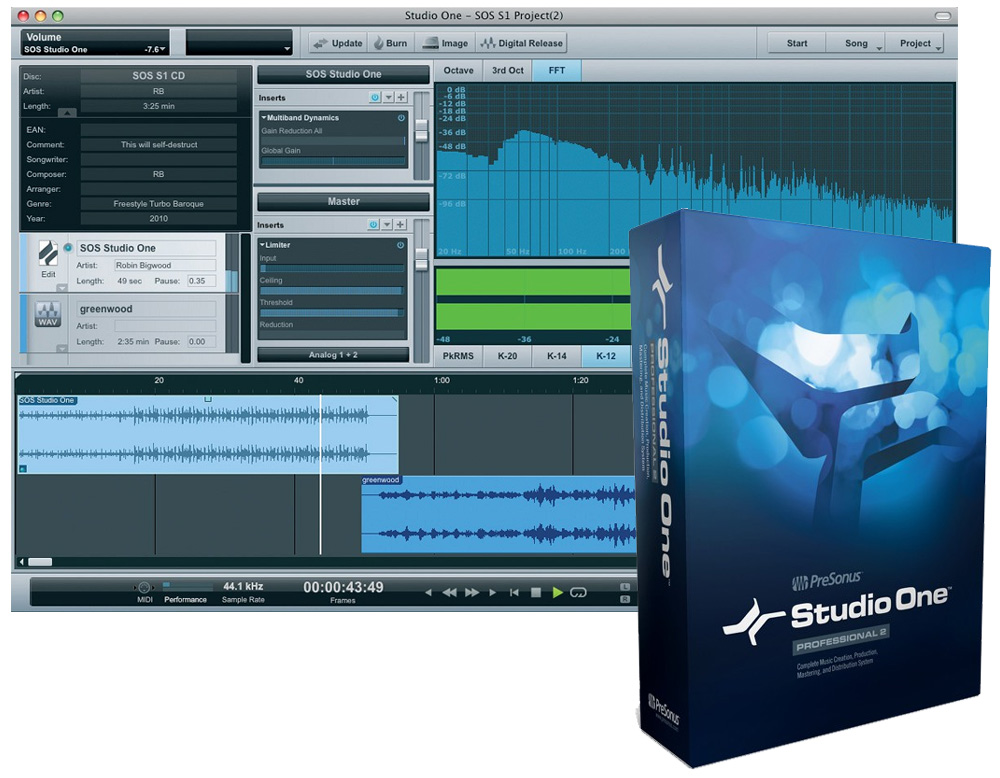 PreSonus Pro Audio Studio One Professional 2 0 Crossgrade