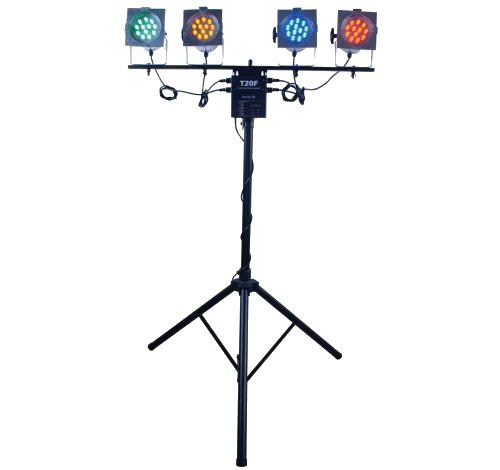 Price Guarantee American Dj Ls80a Portable Lighting System 4 Par 38 Led Lights 1 Lts 2 T20f Limited Stock