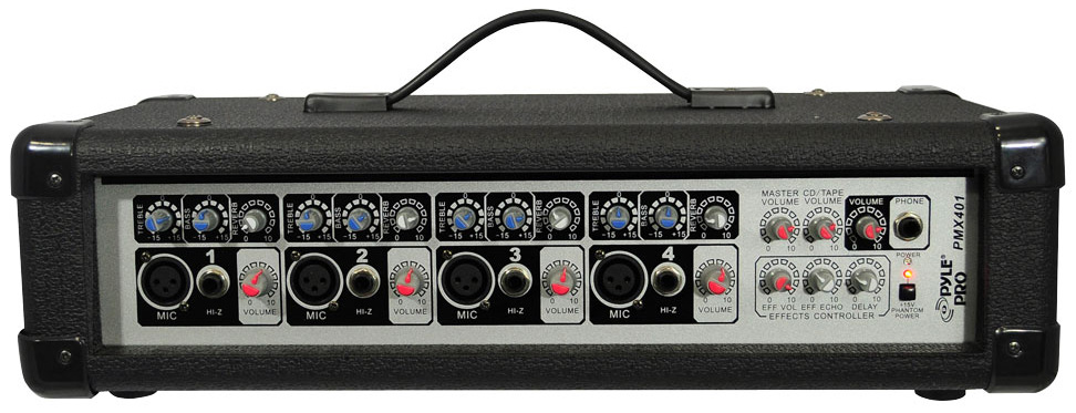 Pro Audio Pyle DJ PMX401 Powered 150 Watt 4 Channel Mixer with 1/4