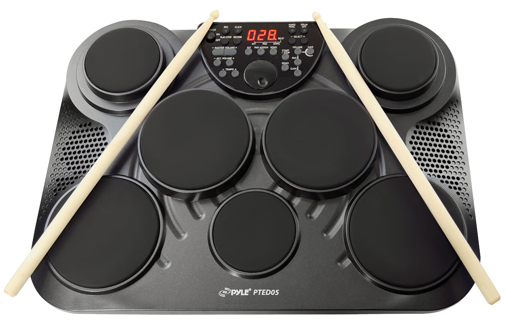 Pyle Pro Pted05 Tabletop Digital Drum Set With Led Display