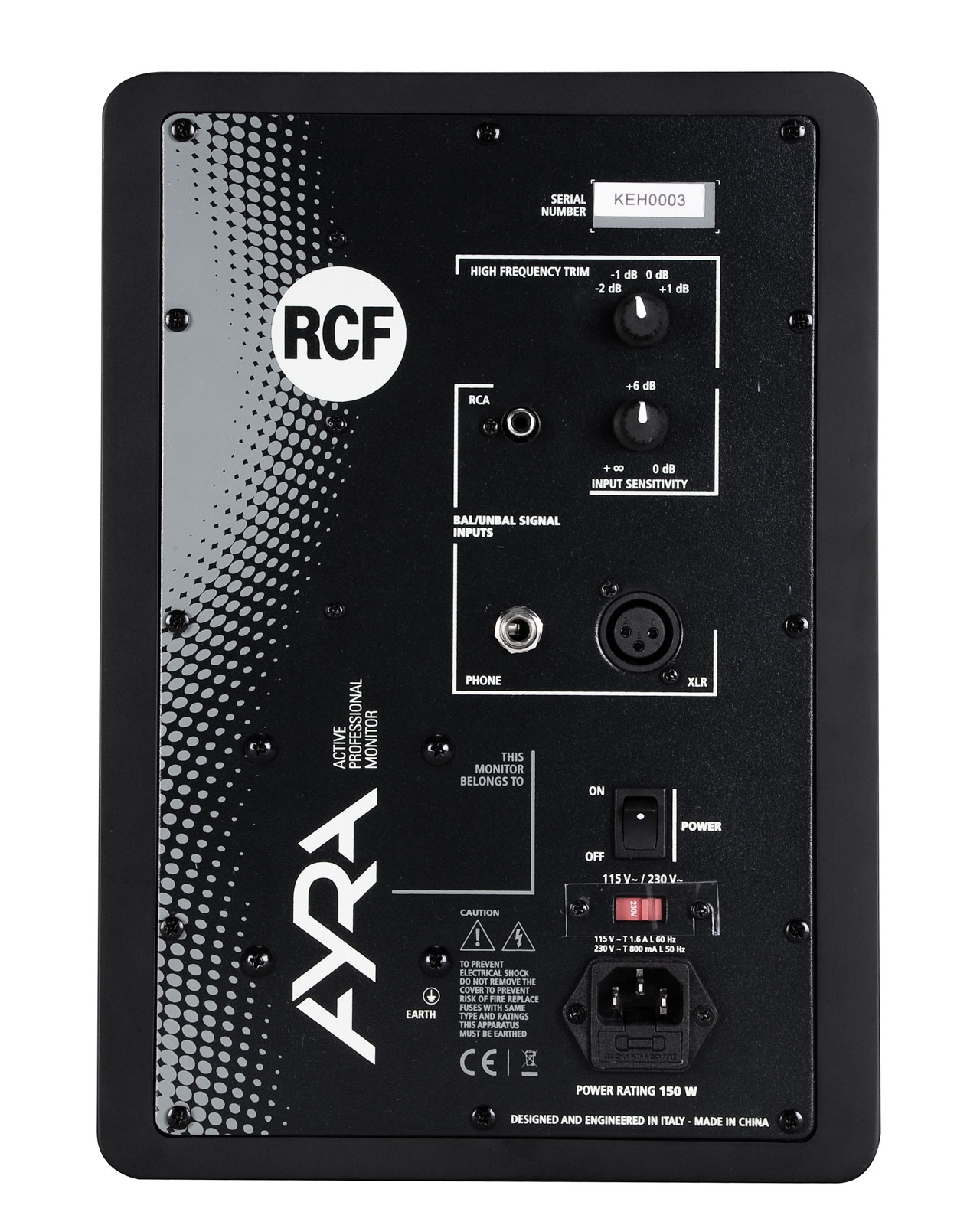 rcf ayra 8 two way studio monitor 8 inch w reflection free front cabinet design rcf13 ayra 8. Black Bedroom Furniture Sets. Home Design Ideas