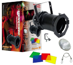 American DJ 46 BLACK COMBO Par 46 Light with Multi Color Gels & Clamp