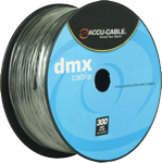 Accu Cable AC3CDMX300 3 Pin DMX Cable 300 Foot Spool