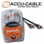 """ACCU Cable XL4-12 XLR to 1/4"""" TRS Speaker Audio Patch 12FT Cable"""