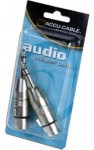 "Accu Cable AXLRC3PMQF 2 Female XLR to to Male XLR 1/4"" Audio Adapter"