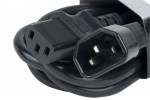 Accu Cable ECCOM-3 Power Cable IEC Extension 3Ft Cord