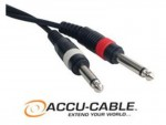 """Accu Cable S-2516 Speaker Cable 1/4"""" to 1/4"""" 25FT Cord"""