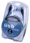 Accu Cable USBAA6 Male USB to Female USB 6 Inch Extension Cable