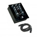 American Audio Q-D1 MKII Fader Q Start Pro Audio DJ Pre-Amp Mixer System with 15-Foot DMX Cable