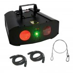 American DJ GAL767 Galaxian Gem LED 2-FX-IN-1 Dual LED Plus Moonflowers with 2 DMX Cables and Safety Harness