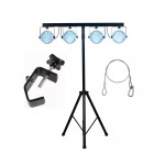 American DJ JEL841 Jelly Par Profile Sys Stand Foot Controller LED Lightning with Safety Harness and Truss Clamp