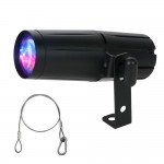 American DJ PINSPOT LED QUAD DMX 8-Watt RGBW Spot Lighting Fixture with Safety Harness