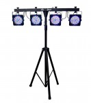 Chauvet DJ 4Bar 15-Channel LED Wash Light DMX System with Three-Pedal Foot Switch