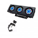 Chauvet COLORado 3p Wash Bank Color Mixing Lighting Fixture with Truss Mounting Clamp