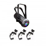 Chauvet COLORdash Accent 3-4 or 9-Channel 7 High Power 1-Watt LEDs with 3 Truss Clamps