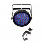 Chauvet DJ 2.5-Inch Thick Casing for SLIMPAR64RGBA LED PAR 64 Boasting 108 RGB Amber LEDs with Truss Clamp