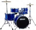 Ddrum D1 PB Police Blue Color Ready to Play 5Piece Complete Entry Level Drum Set